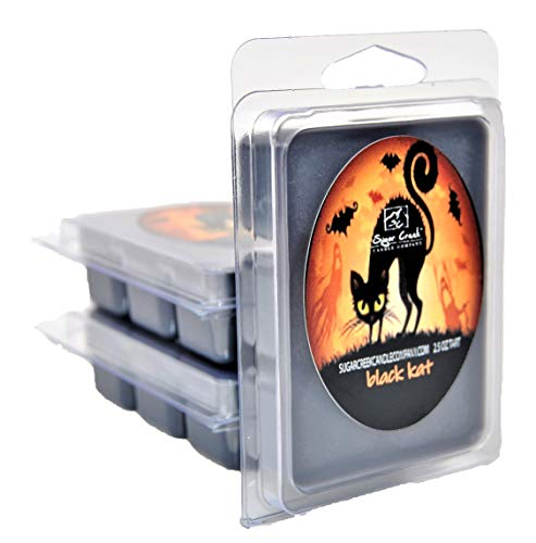 (Sugar Creek | Black Licorice Soy Scented Candle (Black Cat) - Halloween Candles Collection | 100% Natural - Non Toxic | Wax Melts)