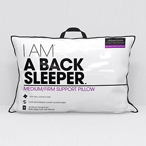 Hollander Sleep Products I AM A Back Sleeper Pillow, Jumbo, White