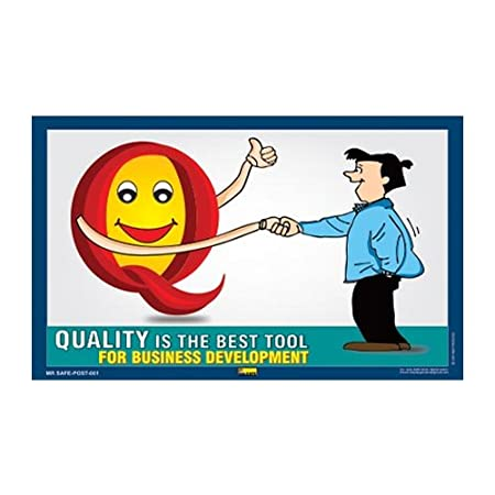 Mr. Safe   Quality is the Best Tool Poster PVC Sticker A3  11.7 inch X 16.5 inch