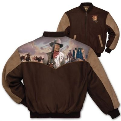 Duke John Wayne Men's Twill Varsity-Style Jacket by The Bradford Exchange