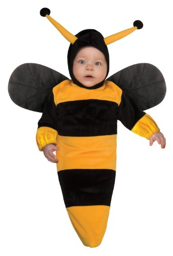 Rubie's Costume Deluxe Baby Bunting, Bumble Bee Costume, 1 to 9 Months (Infant Bumble Bee Costume)