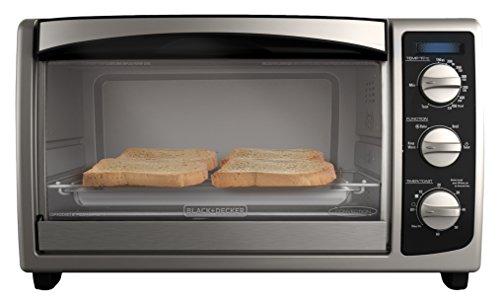 Black & Decker TO1675B 6-Slice Toaster Oven, Black