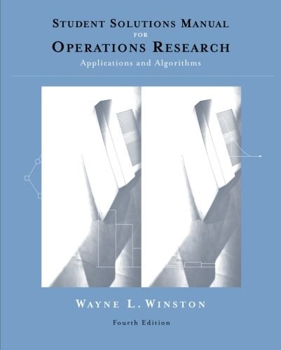 Student Solutions Manual for Winston's Operations Research: Applications and Algorithms, 4th -  Winston, Wayne L., Paperback