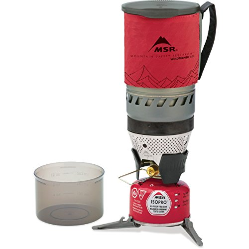 MSR Windburner Personal Stove System, Red, 1 L