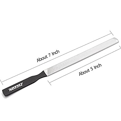 ZIZZON Stainless Steel Nail File 4 sides 7 inch Length