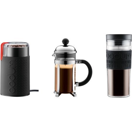 Chambord Set French Press Coffee Maker, 3 Cup, 0.35L, 12 oz, Electric Coffee Grinder, Mug, 0.45L, 15 oz