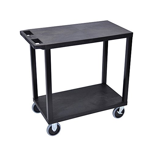 Offex 18 x 32 Inches Cart with 2 Flat Shelves, Gray OF-EC22HD-G