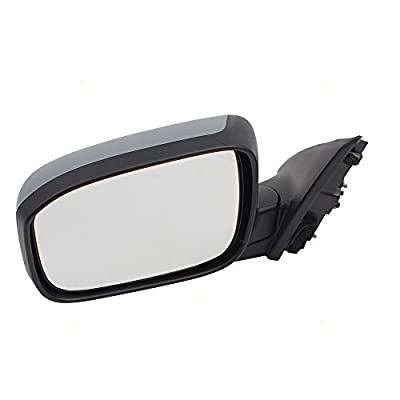 Drivers Power Side View Mirror Heated w/Gray Cover Replacement for 03-07 Honda Accord Sedan 76250SDAA23ZA