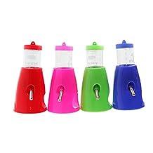Tangc 2 in 1 Hamster Water Bottle Holder 80ML Dispenser With Base Hut Small Pet Nest (Color random)