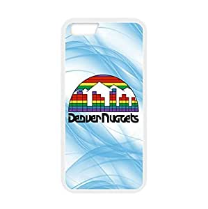 Basketball Denver Nuggets Team Design Background for 4.7 inch Screen iPhone 6 TPU Case (Laser Technology)-by Allthingsbasketball