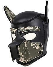Máscara de cabeza completa para perros BDSM Bondage Sex Toy para Cosplay Fetish Hood Juego de rol para mascotas,Multicolored