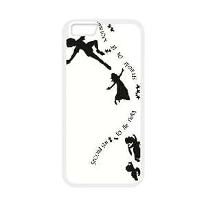 iphone6 plus 5.5 inch White phone case Disney Cartoon Characters Peter Pan DMU5268662