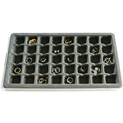 Jewelry Organizer Stack Em 40 compartment Box Large Ring and Earring Drawer Jewelry Tray, Axis 3321