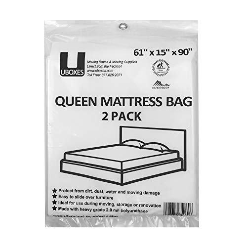 (UBOXES Queen Size Mattress Covers/Bags 61