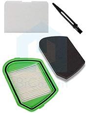 Rowenta ZR005501 Juego De Filtros Para Aspiradora Sin Bolsa, Verde/Negro