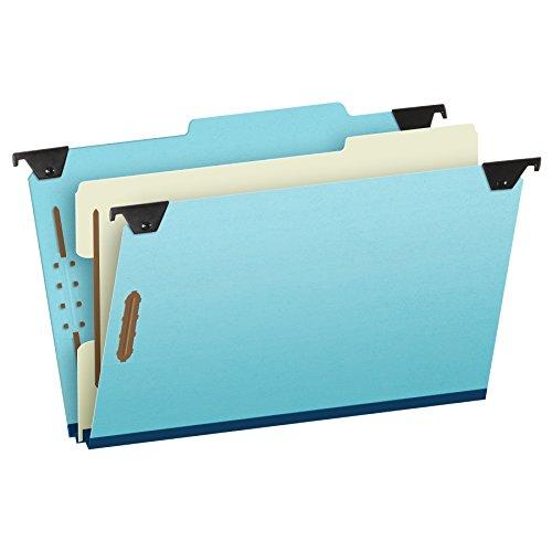 Reinforced Hanging Folder Dividers (Pendaflex 59351 Pressboard Hanging Classi-Folder, 1 Divider/4-Sections, Legal, 2/5 Tab, Blue)