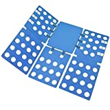 Clothes/T Shirt Folder Adjustable Folding Board, Adult Dress Pants Towels T-Shirt Folder/Shirt Folder/Laundry Folder Board Organizer, Blue