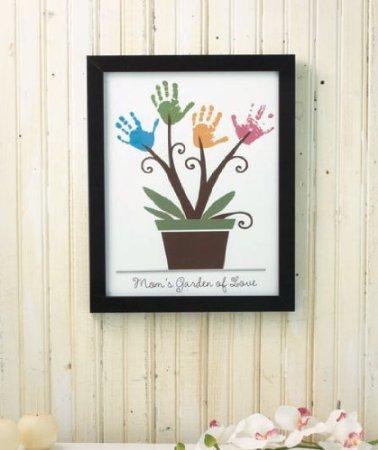 Amazon.com: Make Your Own - Framed Handprint Wall Art - Mom\'s Garden ...