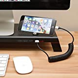 MONITORMATE miniS Monitor Stand 4 Ports with USB3.0 hub, Fast Charger and External Power Supply for iMac, MacBook