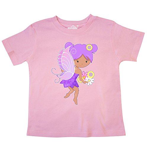 (inktastic - Purple Flower Fairy Toddler T-Shirt 3T Pink 2a57d)
