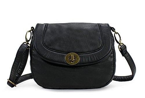 H1823 Black Scarleton Everyday Mini Soft Bag Crossbody Washed TzRq7FwY