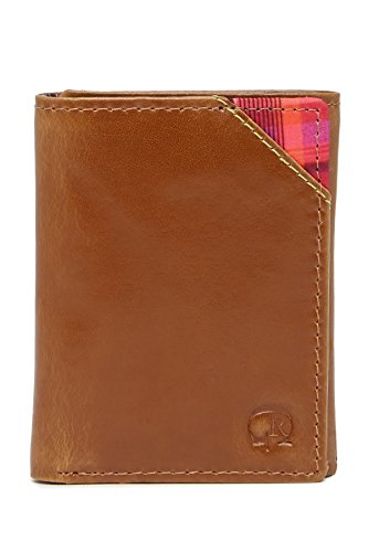 Trifold Derby Tan One Robert Men's Size RFID Graham Wallet Leather FTB7X