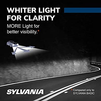 SYLVANIA - 9012 SilverStar - High Performance Halogen Headlight Bulb, High Beam, Low Beam and Fog Replacement Bulb, Brighter Downroad with Whiter Light (Contains 2 Bulbs): Automotive