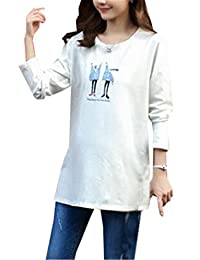 AILIENT Tunic Pregnant Woman Comiced Tops Tees Maternity T Shirt