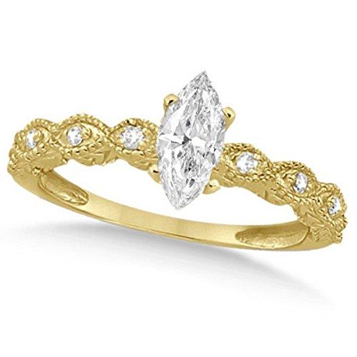 Women's Preset Marquise Antique Diamond Engagement Ring in 14k Yellow Gold (1.00 carat) ()