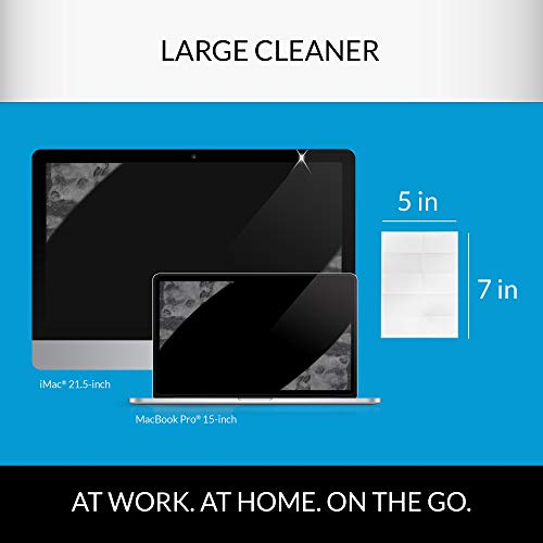iCloth Large Screen Cleaning Wipes | Pack of 100 pre-moistened and individually sealed - approved for optical clarity For use on Laptop and Desktop Screens, Touchscreen Monitors, Automotive Displays by iCloth (Image #5)