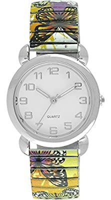 Moulin Women's Butterfly Print Expansion Watch #13591.76327