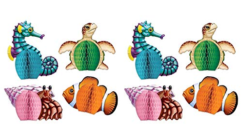 Sea Creatures Mini Centerpieces 5.5-Inch (4-Pcs) 2 pack