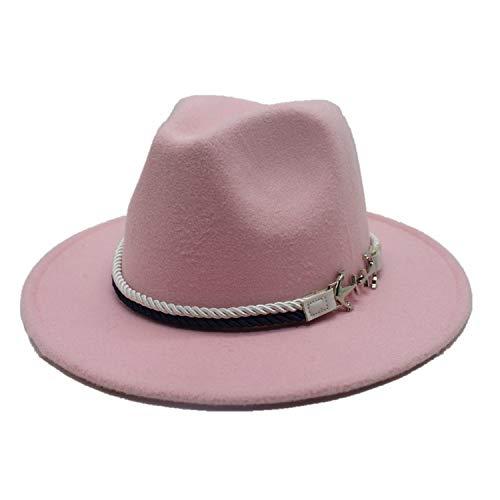 - DOSOMI Men Women Spring Wide Brim Fedora Jazz Hats Fashion Wool Felt Bowler hat Unisex Felt Trilby hat,Pink