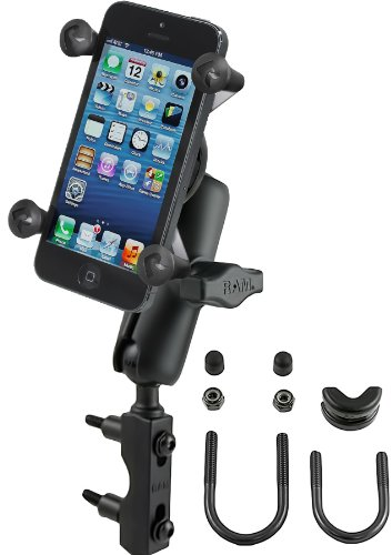 RAM MOUNTS RAM-B-174-UN7U Combination Brake/Clutch Reservoir U-Bolt Mount with Universal X-Grip Cell/Iphone Holder