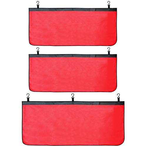 baotongle 3 PCS Automotive Mechanic Leather Fender Cover Protector Gripper Automotive Mechanic Work Mat Pad Red