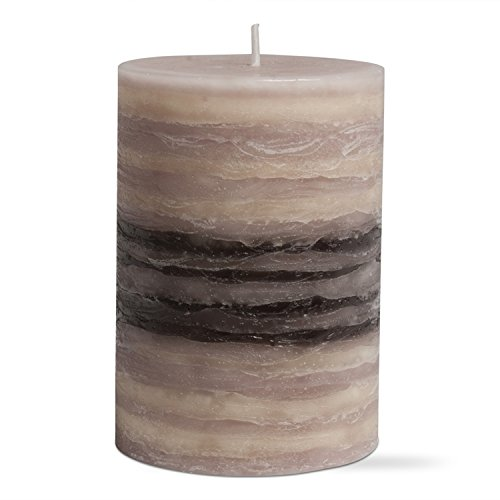 tag 203713 Strata Scented Pillar Candle, Natural, 2.75