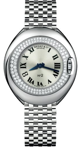 Bedat No 2 Silver Dial Stainless Steel Diamond Unisex Watch 228.031.600