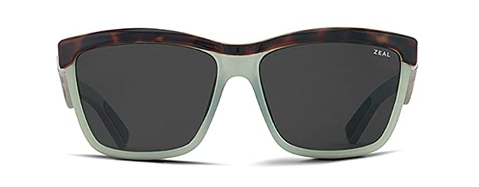 1aa04c5b76 Zeal Optics Unisex Kennedy Seafoam Tortoise w Dark Grey Polarized Lens  Sunglasses  Amazon.co.uk  Shoes   Bags
