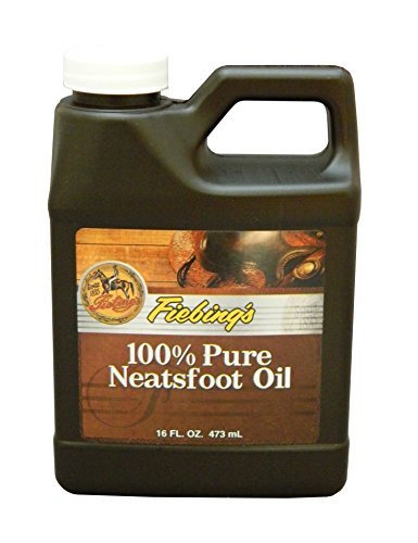 - Fiebing's 100% Pure Neatsfoot Oil - Natural Leather Preserver - For Boots, Baseball Gloves, Saddles and More - 16 oz