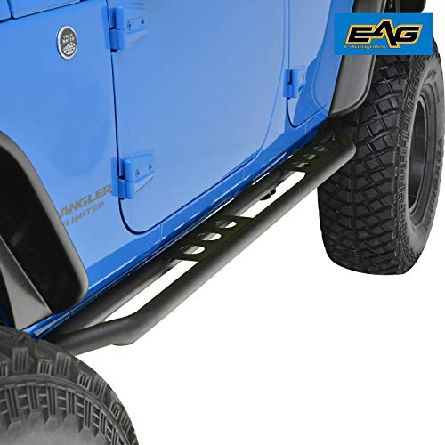 EAG Rock Sliders Fit for 07-18 Jeep Wrangler JK 4 Door Rocker Guard Body Armor