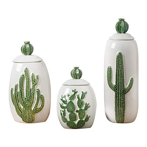 Cactus Kitchen Set of 3 Canisters