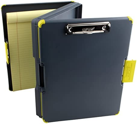 Dexas Duo Clipcase Dual Sided Storage Case and Organizer, Yellow Clip and Edges
