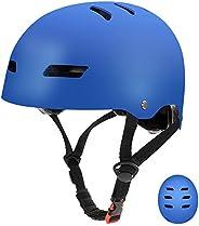 Skateboard Bike Helmets Multi Sports Scooter Inline Roller Skating Adjustable for Kids Youth Adults Men Women