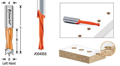 Amana Tool 304113 Carbide Tipped Brad Point Boring Bit L//H 5//8 D x 70mm Long x 10mm SHK