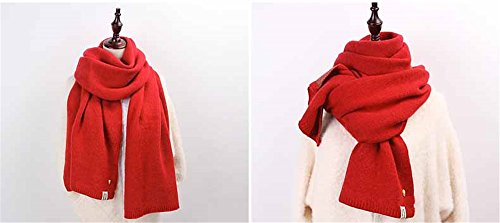 students thickening series small scarf color Winter Female Korean Pure Scarf Day 200 sided knitted Sweater C f fresh double 45cm tvqzw7Atc