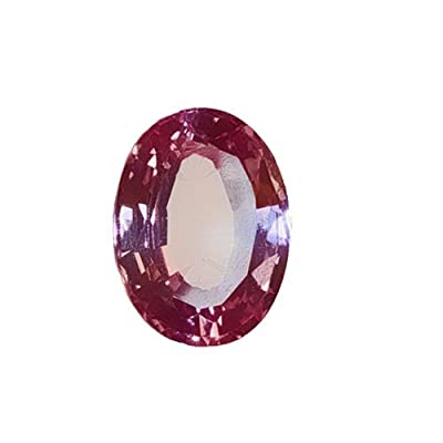 Created Padparadscha Sapphire Oval Unset Loose Gemstone 16mm by uGems