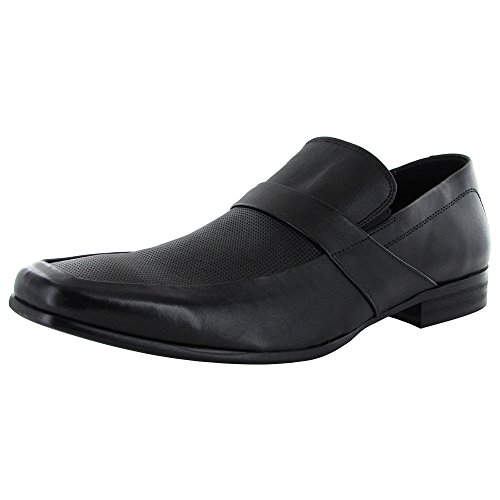 Leather On Loafer Black Slip Mens Steve Hamlet Shoe Madden qwtSZS