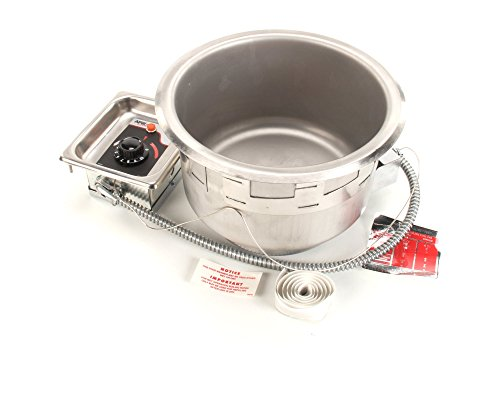 """Price comparison product image APW Wyott 55370-36UL Model Sm-50-11D Ulf Listed Round Soup Wells Drop-In with EZ Lock,  Drain,  208 / 240V,  500 / 660W,  2.4 / 2.8 Amp,  24"""" Height,  18"""" Width,  7"""" Length"""