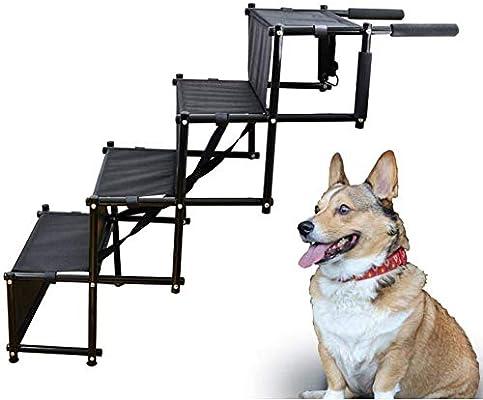 GCSEY Plegable para Mascotas Escaleras/Rampa para Perros Pequeños Y Grandes, Escalera Portátil Rampa con Escalones Anchos Grandes para Los Coches, Perro Escaleras: Amazon.es: Productos para mascotas
