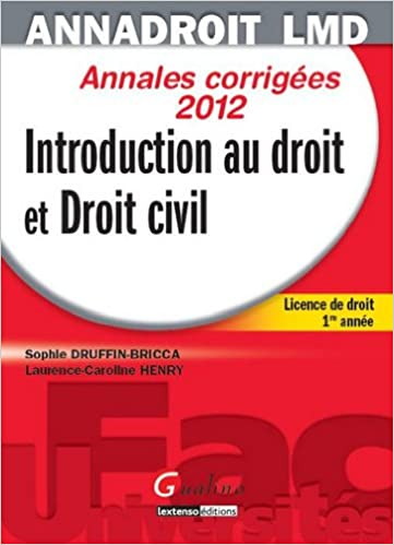 Lire Introduction au droit et droit civil : Annales corrigées pdf, epub
